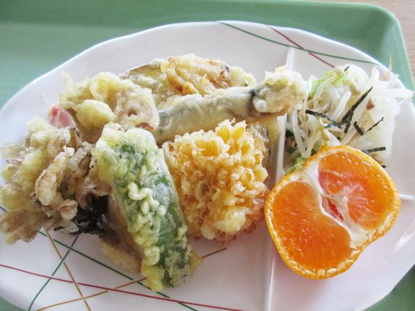 秋の天ぷらの盛り合わせ