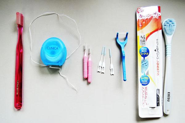 歯磨き道具一覧