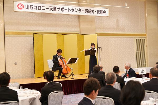 増川大輔・敬子ご夫妻によるチェロとフルート二重奏の様子